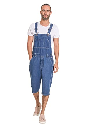 f9c6994a43 Image Unavailable. Image not available for. Color: G8 One Mens Stonewash  Denim Overall Shorts Denim Walkshort Overall Shorts Shortalls