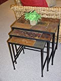 Black 3 Piece Nesting Tables With Slate Top Review