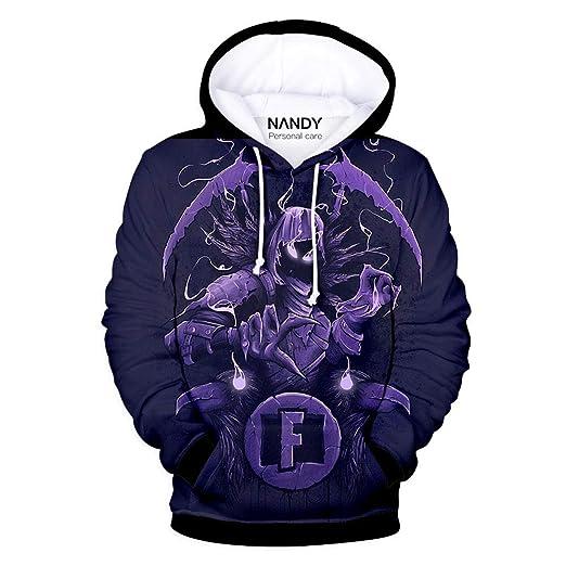 NANDY Personal Care Jungen Streetwear Pullover mit 3D Cartoon gedruckt Pulli