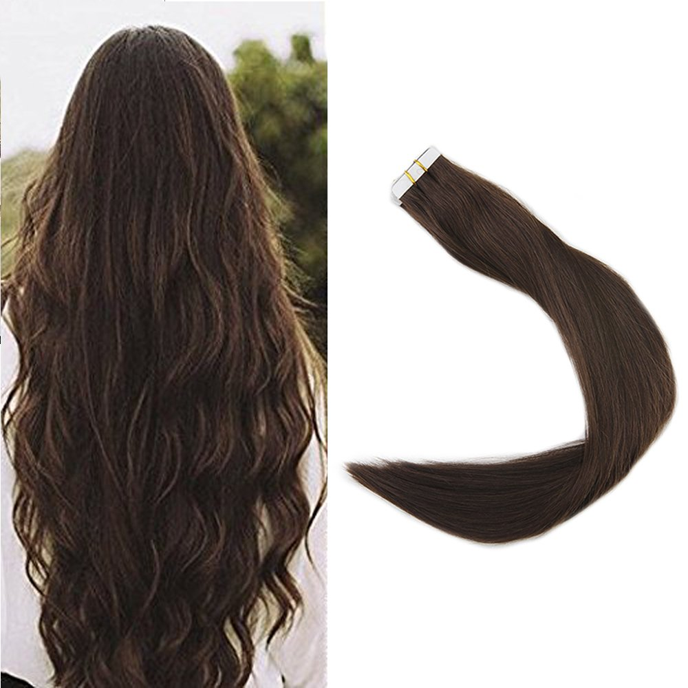 Best Hair Extensions Full Shine Hair 20inch Color 4 Tape In