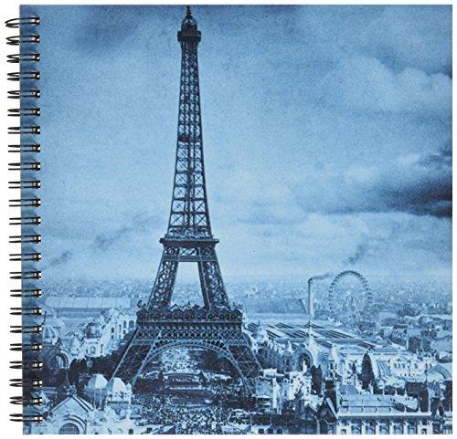 3dRose db_6794_1 Eiffel Tower Paris France, 1889-Cyan-Drawing Book, 8 by 8-Inch