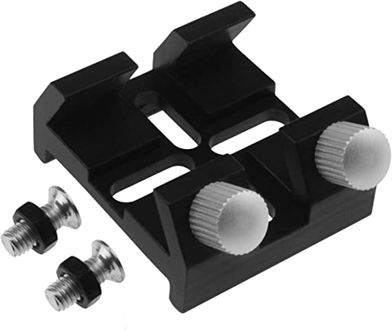 Shumo Finder Scope Base with Lock Screw for Astronomical Telescope Finderscope Quick-Connect Dovetail Groove Bracket