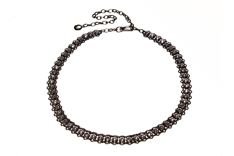 Landes Women's Antique Look Jewelled Chain Belt