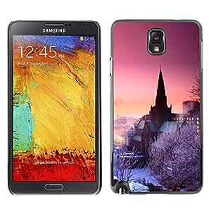 """For Samsung Note 3 N9000 , S-type Naturaleza rosada púrpura cielo de invierno"""" - Arte & diseño plástico duro Fundas Cover Cubre Hard Case Cover"""