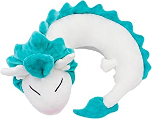 Bibonse Travel Pillow, Anime Cute Plush Toy White Dragon Neck Pillow for Kids Students Bedroom Home Office