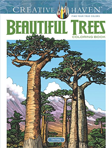 Creative Haven Beautiful Trees Coloring Book (Creative Haven Coloring Books)