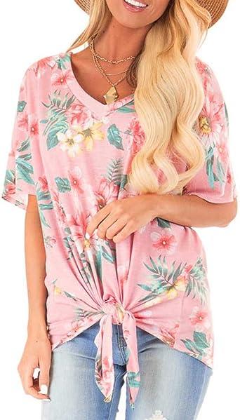 Blusa con Estampado de MujerHappyShopYZ Camisa de Arco ...