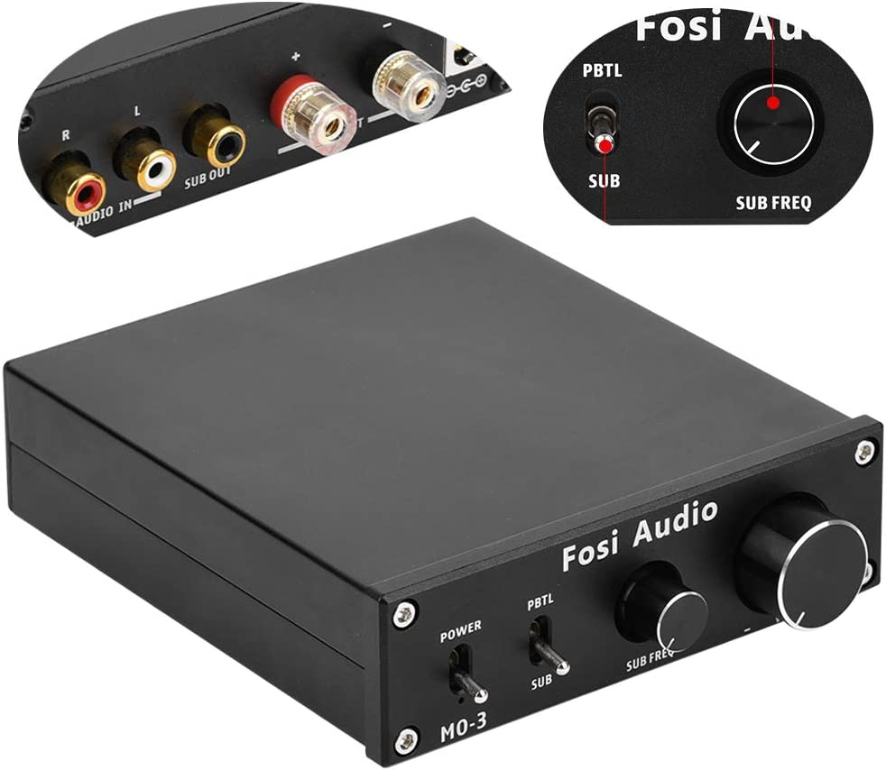 Fosi Audio Subwoofer Amplifier 300 Watt Mono Audio Amp with Full-Frequency and Sub Bass Switchable