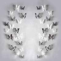 3D Ephemera Crystal Butterfly Wall Decorative Stickers Aesthetic Embellishments PVC Removable Sets for Crafts, Painting…