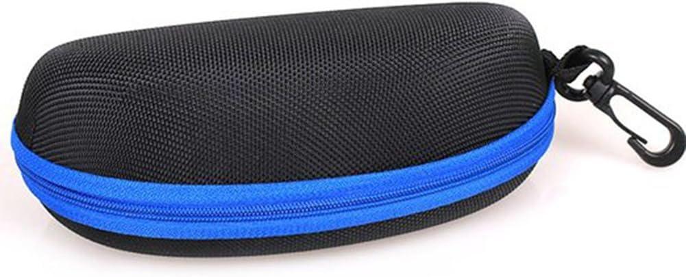 16 blau Scrox Eva Wearable Brillenetui Box Schutz der Sonnenbrille Reise im Freien Festplatte Fall Zipper Festplatte mit Haken Form Clamshell 6.5 6.5cm
