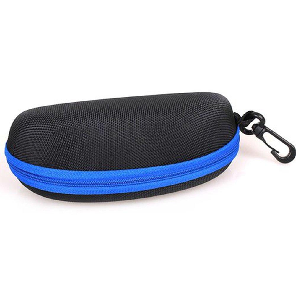 LAAT Tragbar EVA Brillenetuis Reiß verschluss Sonnenbrille Schutzkiste mit Karabiner haken Clam Shell Form Hard Case Box fü r Outdoor Reisen