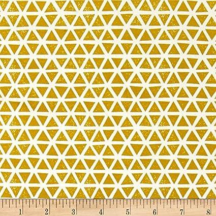 e7b422a2e30 Amazon.com: Cloud 9 Organic Interlock Knit Triangles Citron Fabric ...