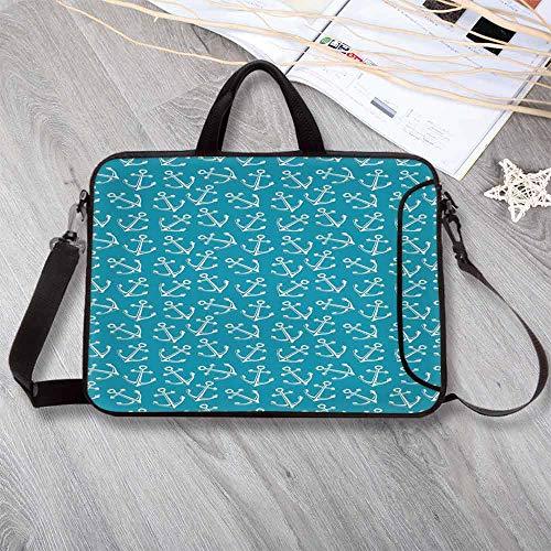 "(Anchor Custom Neoprene Laptop Bag,Stylized Pattern Cruise Sail Ocean Sea Travel Theme Vintage Design Summer Season Laptop Bag for Men Women Students,8.7""L x 11""W x 0.8""H)"
