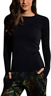 product image for Onzie Hot Yoga Seamless Long Sleeve Crew 344 Black