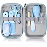 Baby Grooming Kit, 8 in 1 Baby Hair Brush/Nail Clipper/Nose Cleaner/Finger Toothbrush/Nail Scissors/Manicure Kit for…