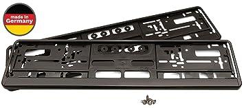 2x Universal Kennzeichenhalter Nummernschildhalterungen Schwarz Premium Qualität