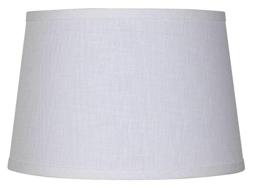 White Linen Drum Lamp Shade 10x12x8 (Spider) - - Amazon.com