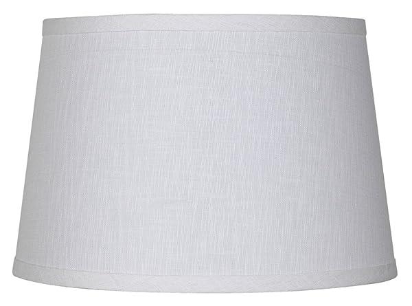 White linen drum lamp shade 10x12x8 spider amazon white linen drum lamp shade 10x12x8 spider aloadofball Images