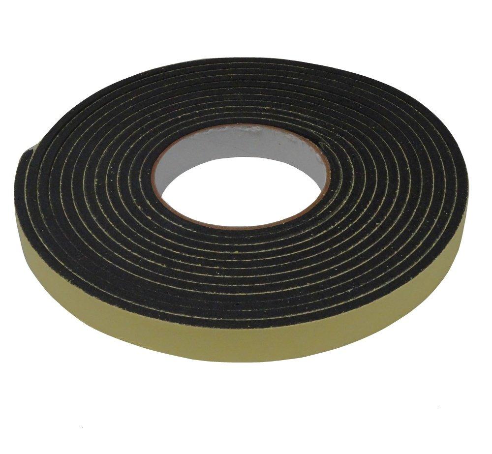 AERZETIX: Cinta adhesiva para aislamiento de ventanas y puertas 5 metros Color negro C3567 3800946179764
