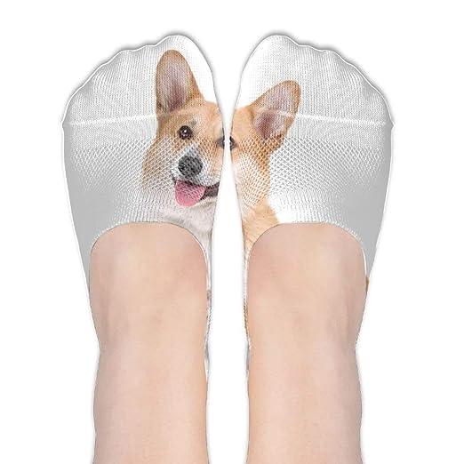 Cute Corgi Dog Pet Fashion Lady Women Non-Slip Casual Low Cut No ... b19c8f575