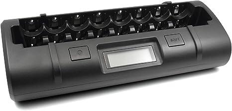 Amazon.com: MAHA Powerex mh-c808 m Cargador para ocho AA/AAA ...