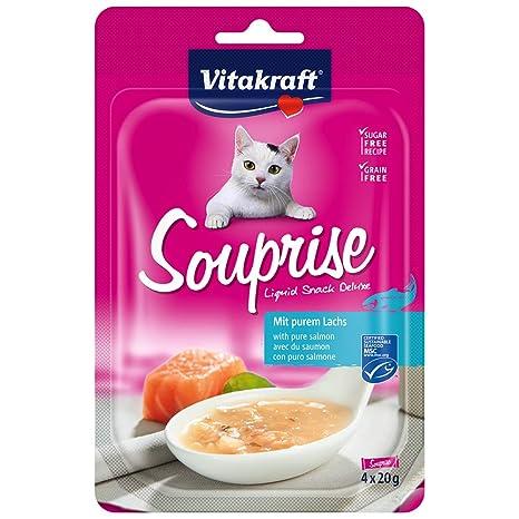 VITAKRAFT Vita Fuerza Gato Snack souprise, salmón – 80 g