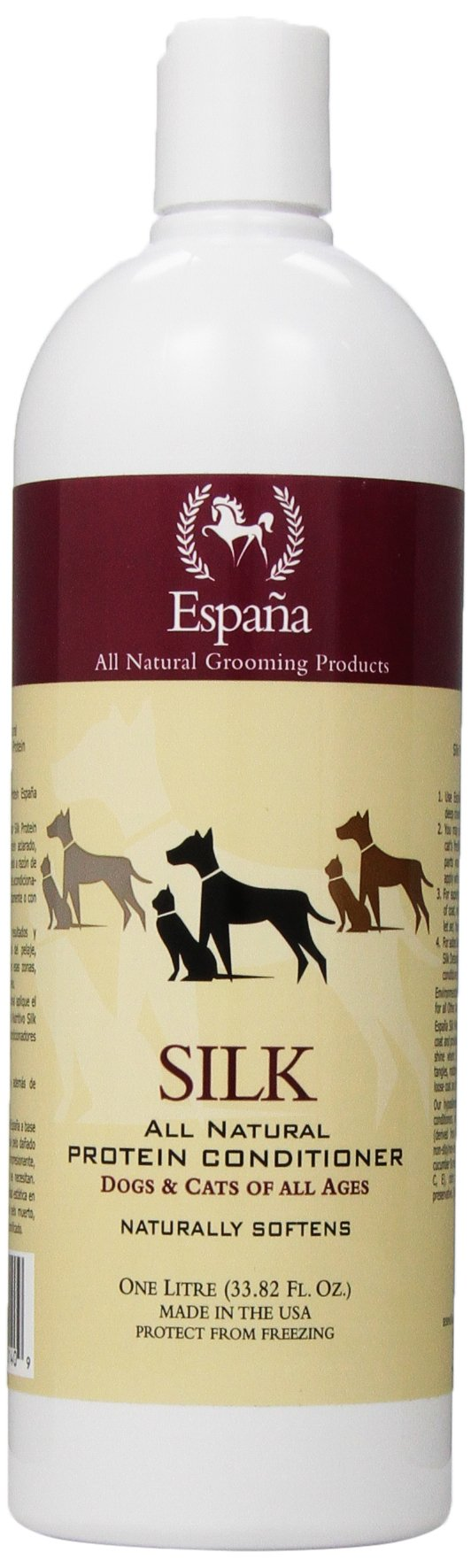 Espana Silk ESP1020DC Specially Formulated Silk Protein Conditioner for Dogs and Cats, 33.82-Ounce