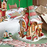 Department 56 North Pole Village Hobby Horse Barn Lit House, 6.69-Inch