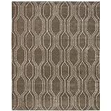 rivet steel slanted lines wool rug 8u0027 x 10u0027