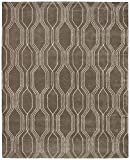 Rivet Steel Slanted Lines Wool Rug, 8' x 10'