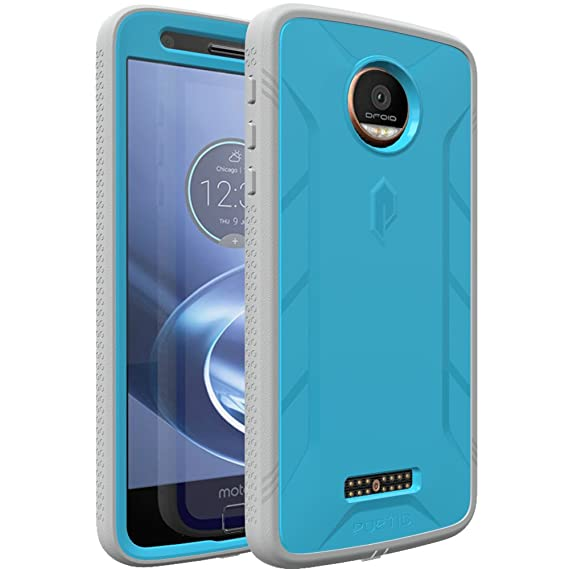 newest collection c7948 72ea0 Moto Z/Moto Z Droid Case, POETIC Revolution Series [Premium Rugged][Heavy  Duty] Case w/Built-in Screen Protector for Moto Z Droid Blue [Does Not Work  ...