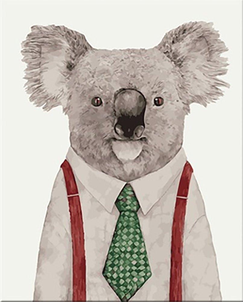 "[ Wooden Framed ] Alb 16 "" x 20 ""ペイントby Numbers Diy Painting有名なペイントコレクション4 ALB 4050_152 B01MU6LNRB Koala Gentleman Koala Gentleman"