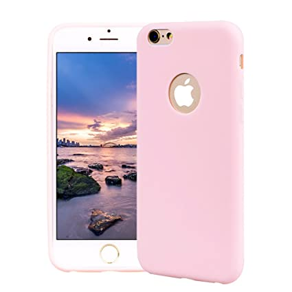 Funda iPhone 6, Carcasa iPhone 6S Silicona Gel, OUJD Mate Case Ultra Delgado TPU Goma Flexible Cover para iPhone 6/6S - Rosa