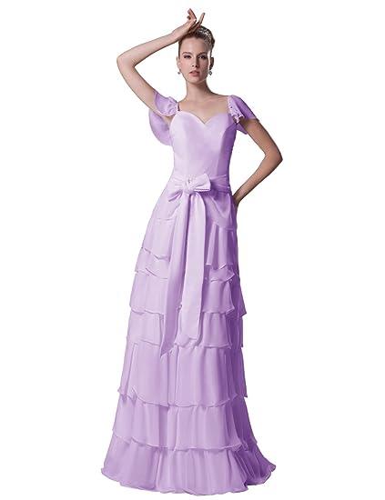 8f9190cb6fc Dressystar Women s Dress Festive Ball Dresses Summer Dresses Multi-Layered  Skirt with Bow