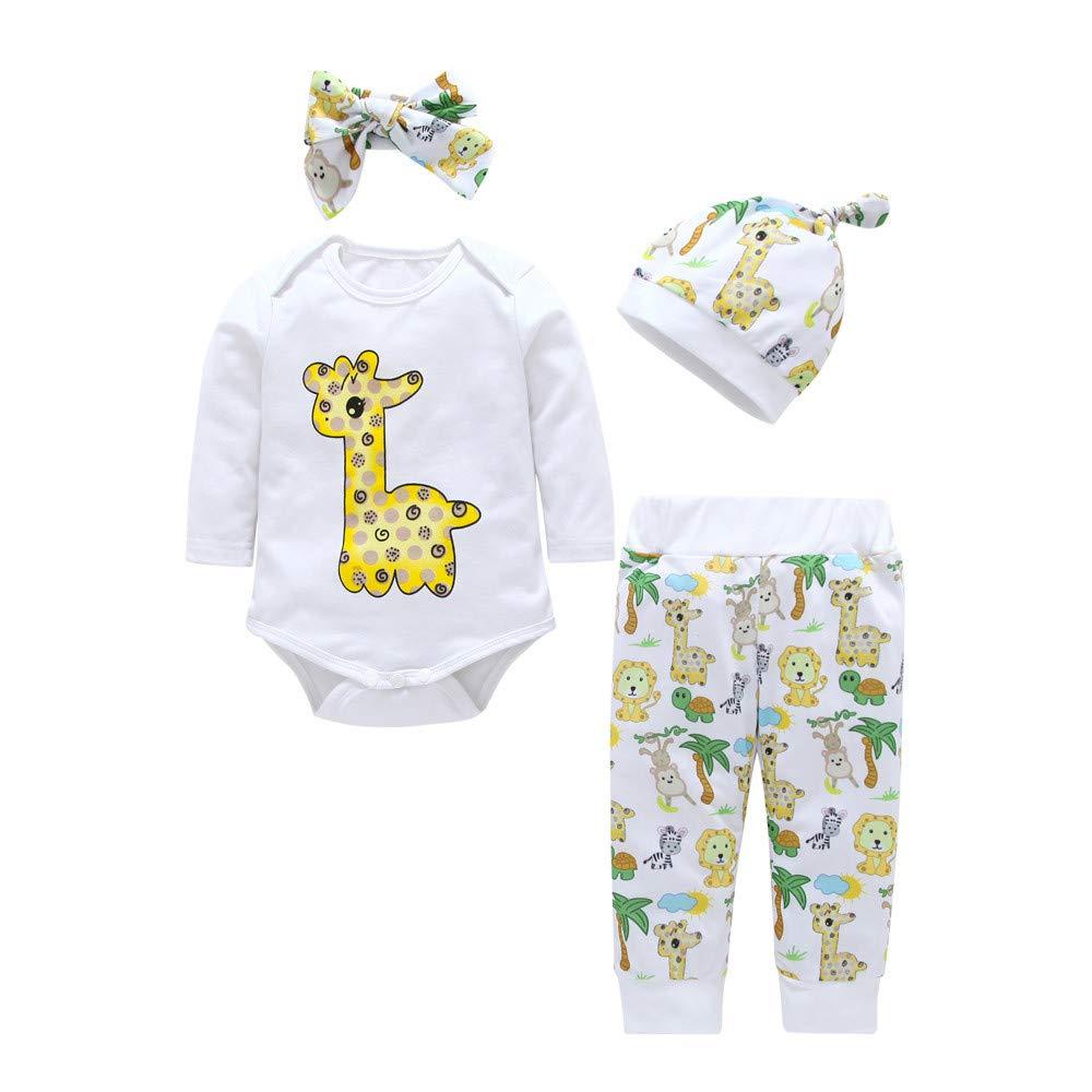 Heecaka Baby Girl Boy Rompers Tops Pants Bowknot Diadema con Conjunto de Trajes de Sombreros: Amazon.es: Ropa y accesorios