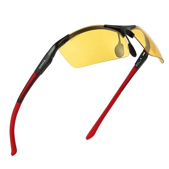 SOXICK Gafas de visión nocturna para conducción de lluvia, día de conducción, antirreflectantes,