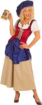 Disfraz de sirvienta de la Edad media de la Edad media para mujer ...