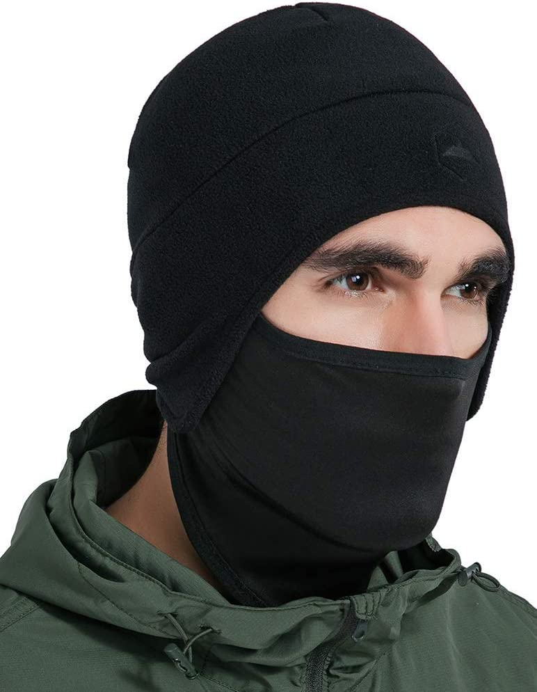 Tough Headwear Helmet Liner Skull Cap Beanie with Ear Covers - Ultimate Thermal Retention and Performance Moisture Wicking. Perfect for Running, Cycling, Skiing & Winter Sports. Fits Under Helmets