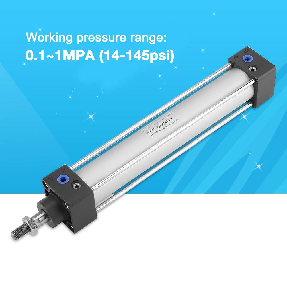 course 200mm V/érin /à air de Mini-type FTVOGUE V/érin pneumatique mince Cylindre /à air simple /à double effet al/ésage de 32mm