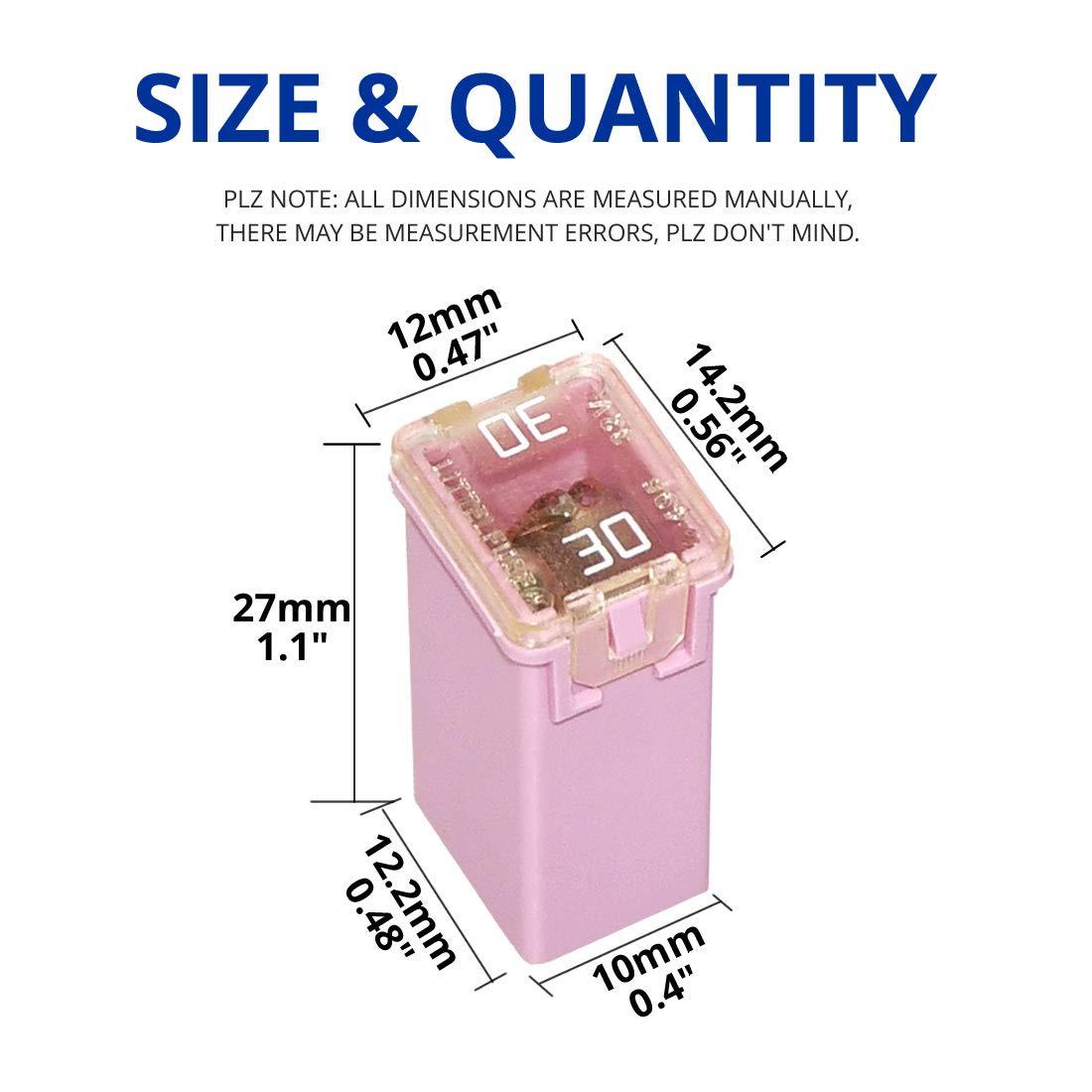 Fuse Assortments 36 pc Mini Jcase Fuse Assortment HIGH PROFILE 30A ...