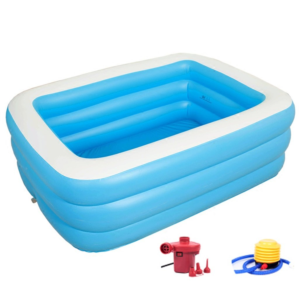 Bathtubs Freestanding Thick Adult Family Folding Bucket Inflatable Couple Large Children's Bath Barrel Wash Basin (Size : 125cm(49.2 inches))