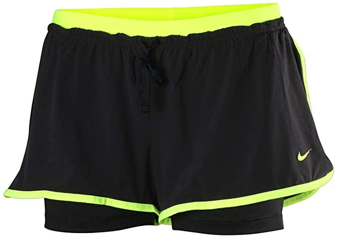 487544325c16c Amazon.com  Nike Women s Full Flex 2-in-1 Training Shorts (Small ...