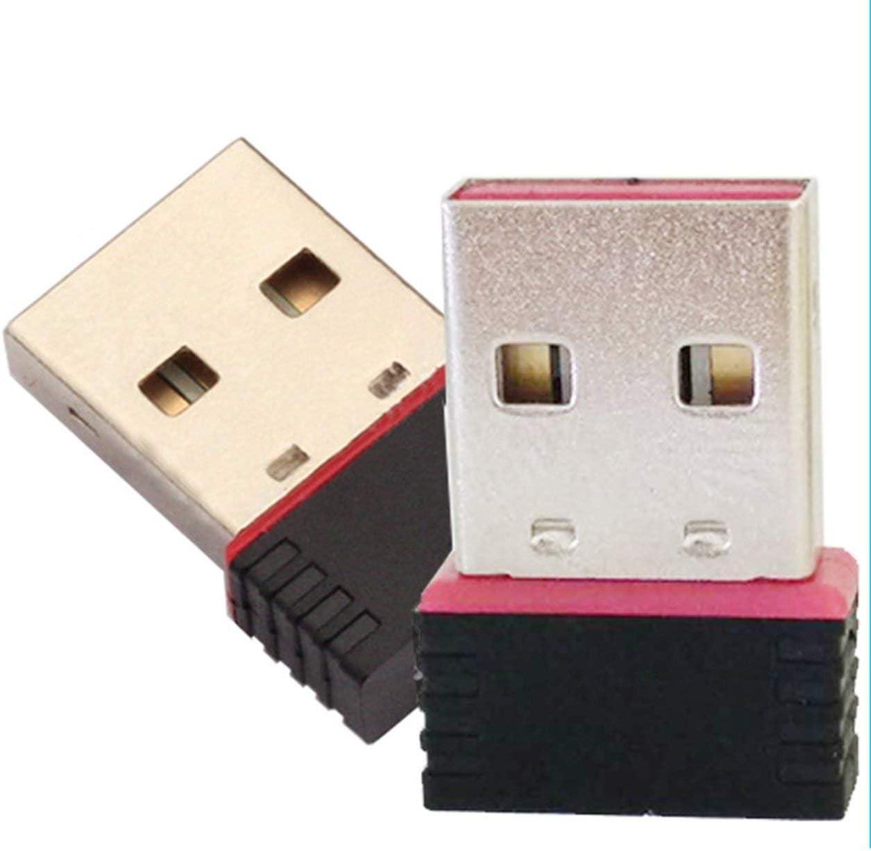MachinYesity Mini PC Adattatore WiFi Antenna WiFi USB Scheda di Rete per Computer Wireless Mini Scheda di Rete per Computer Wireless Ricevitore Dual Band Colore: Nero