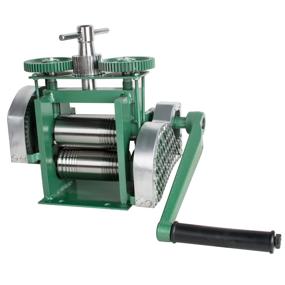 "Amazon.com: Manual Rolling Mill Machine, ixaer 3"" 80mm Jewelry Press  Tabletting Rollers Sheet Metal Wire Flat Jewelry Tool, Shipping from USA"