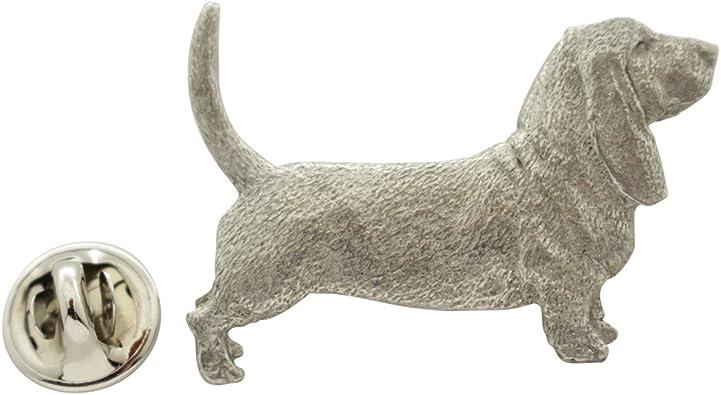 BASSET HOUND Dog Fine PEWTER PIN Jewelry Art USA Made