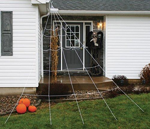 Fun World Super Spider Web Halloween Decoration White 2 in. W x 8-7/8 ft. L