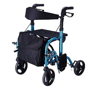 HSRG Movilidad Ligero Plegable rollator Caminar Marco con Asiento ...