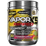MuscleTech VaporX5 Ripped Preworkout, Long Lasting Energy,  Pre Workout Weight Loss, Strawberry Limeade, 30 servings