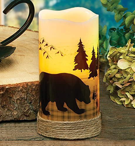 Bear LED Candle - Wilderness Decor