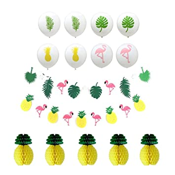 Tumao Sommer Party Dekoration Ananas Flamingo Dekoration Set Beach